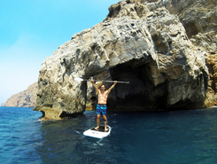 La Azohia paddle board spot in Spain