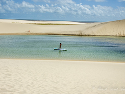 Lençóis Maranhenses paddle board spot in Brazil
