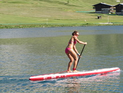 Lac de Tignes paddle board spot in France