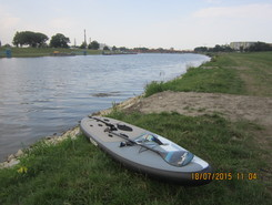 Irek Iron Biernacki paddle board spot in Poland