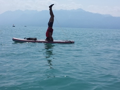 Lausanne haldimand paddle board spot in Switzerland