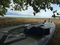 Lausanne Vidy paddle board spot in Switzerland
