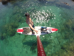 Cala Girgolu paddle board spot in Italy