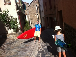 collioure paddle board spot in France