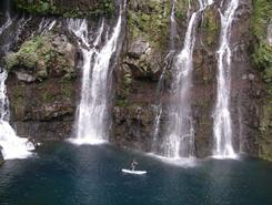 Cascade de grand galet Langevin paddle board spot in Réunion