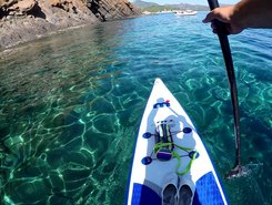 Capo Ferrato paddle board spot in Italy