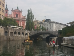 Old Town Ljubljana (Ljubljana River) paddle board spot in Slovenia