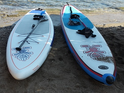 Agia Marina Lavrio  paddle board spot in Greece