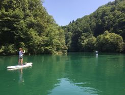 The Soča River spot de SUP em Eslovênia