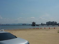 Youngildae beach sitio de stand up paddle / paddle surf en Corea del Sur