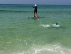 WaterSound Beach  paddle board spot in United States