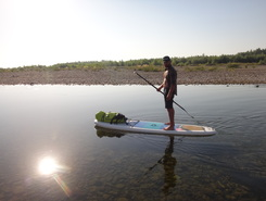 Stryi paddle board spot in Ukraine