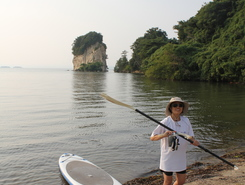 Notojima Dolphin smile paddle board spot in Japan