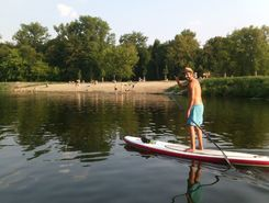 Eg: Elbe paddle board spot in Germany