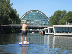 Billerhuder Insel sitio de stand up paddle / paddle surf en Alemania