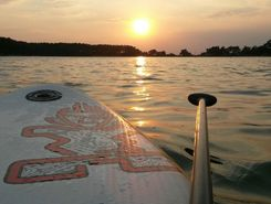 Lhota lake paddle board spot in Czech Republic