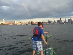 Hudson River - Pier 40 sitio de stand up paddle / paddle surf en Estados Unidos