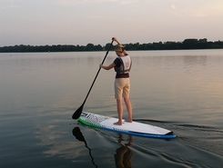 Kiekrz paddle board spot in Poland
