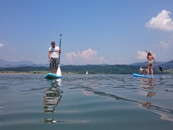 Lake Velenje spot de stand up paddle en Slovénie