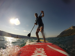 Menthon paddle board spot in France
