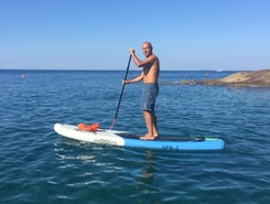 Calafuria paddle board spot in Italy
