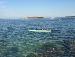 Kamenjak paddle board spot in Croatia