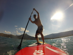 Roc de chere sitio de stand up paddle / paddle surf en Francia