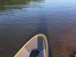 happurger stausee kleine abendrunde paddle board spot in Germany