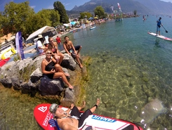 le pierrer sitio de stand up paddle / paddle surf en Suiza
