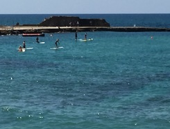 Beach bar caesarea sitio de stand up paddle / paddle surf en Israel