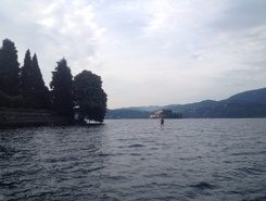 Lago d'orta paddle board spot in Italy