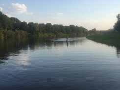 Vltava river, Ceske Vrbne sitio de stand up paddle / paddle surf en República Checa