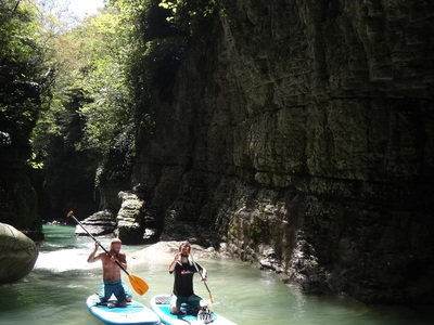 Gachedili Canyon paddle board spot in Georgia