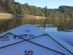 Lopwell Dam paddle board spot in United Kingdom