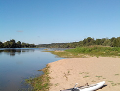 Confluence Loire/Cher paddle board spot in France