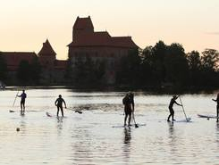 Galvė lake, Trakai paddle board spot in Lithuania
