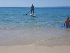 Geremeas paddle board spot in Italy