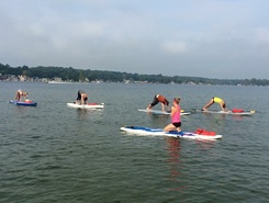 Crooked Lake paddle board spot in United States