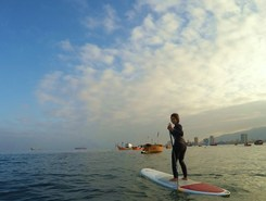 Iquique, playa Cavancha sitio de stand up paddle / paddle surf en Chile