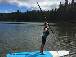 Lake Takhlakh paddle board spot in United States