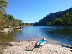 ardeche spot de stand up paddle en France