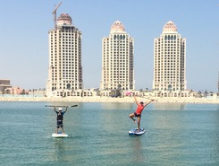 The blue pearl water  spot de stand up paddle en Qatar