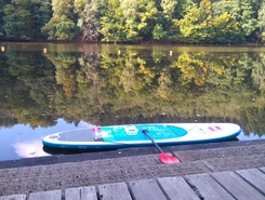 Barrage de Nisramont paddle board spot in Belgium