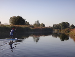Oskil river paddle board spot in Ukraine