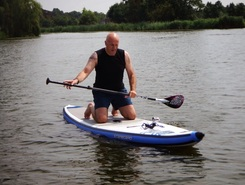 Spaarnwoude recreatie plas spot de stand up paddle en Pays-Bas