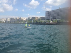 Thessaloniki   bay  paddle board spot in Greece