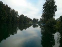 Kolpa River paddle board spot in Slovenia