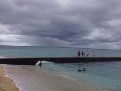 waikiki paddle board spot in United States