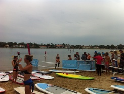 Lac d'hossegor sitio de stand up paddle / paddle surf en Francia