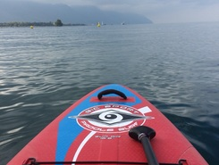 Ile de Peilz paddle board spot in Switzerland